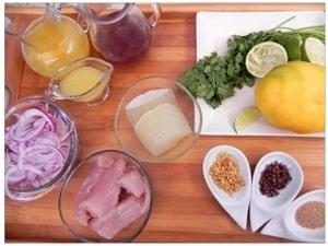ingredientes ceviche KromaNutrición